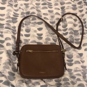 Fossil Piper Toaster Pebbled Leather Crossbody Bag